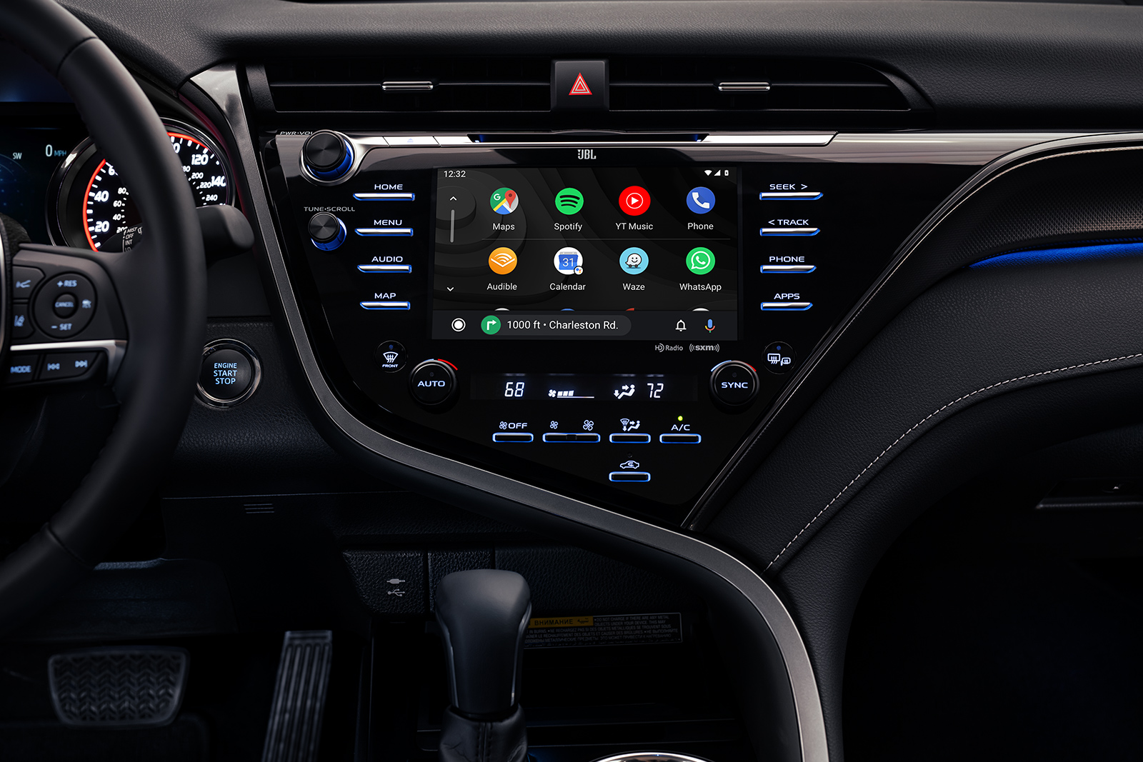 Model Features of the 2020 Toyota Camry at Tri County Toyota | The monitor of the 2020 Camry TRD