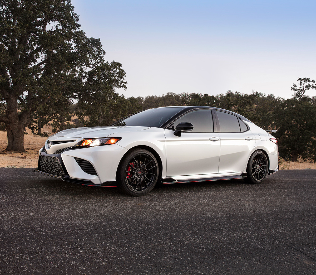 Model Features of the 2020 Toyota Camry at Tri County Toyota | White 2020 Camry TRD