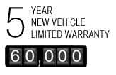 5 Year New Vehicles Limited Warranty
