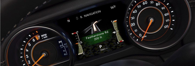 2020 Jeep Wrangler Dashboard with Navigation
