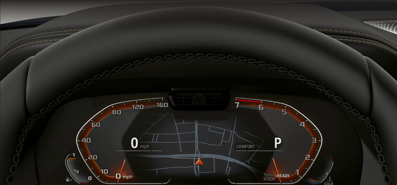 Gauges in the 2020 BMW X5
