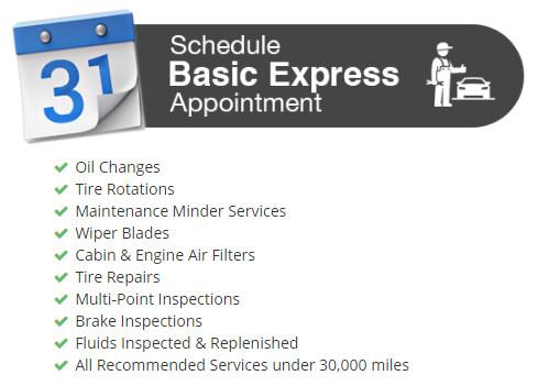 Schedule Express service
