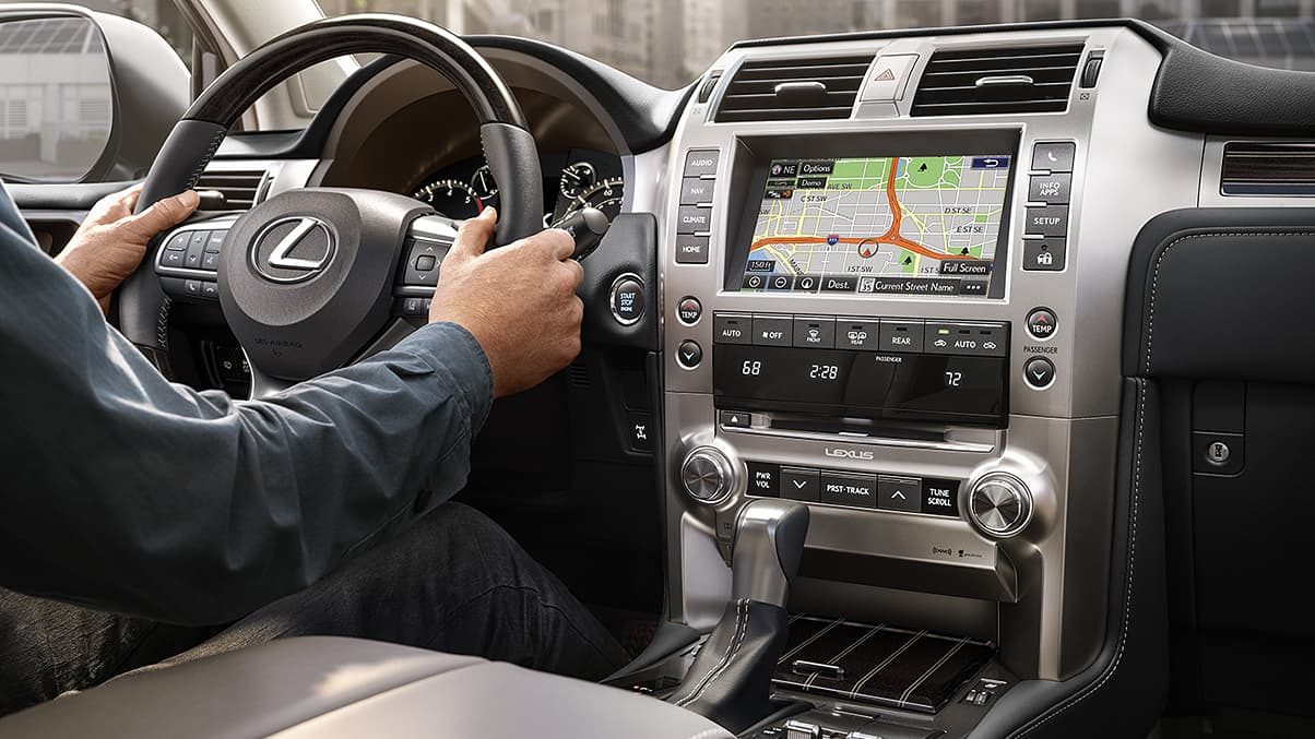 Interior of the 2020 Lexus GX 460