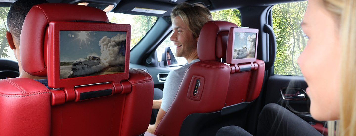 2020 Dodge Durango Available Dual-Screen Blu-Ray™ Entertainment System