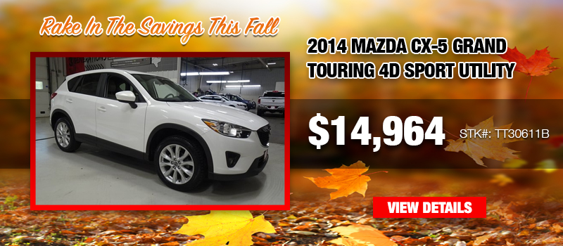 Used 2014 Mazda CX-5 Grand Touring 4D Sport Utility at $14,964