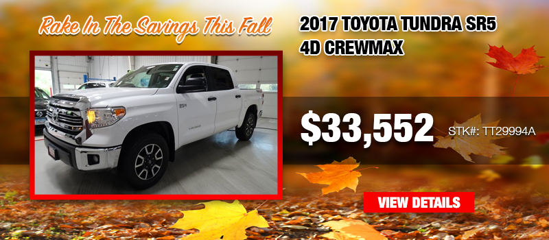 Used 2017 Toyota Tundra SR4 4D CrewMax at $33,552