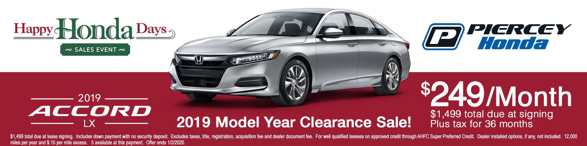 2019 Honda Accord LX Lease Offer