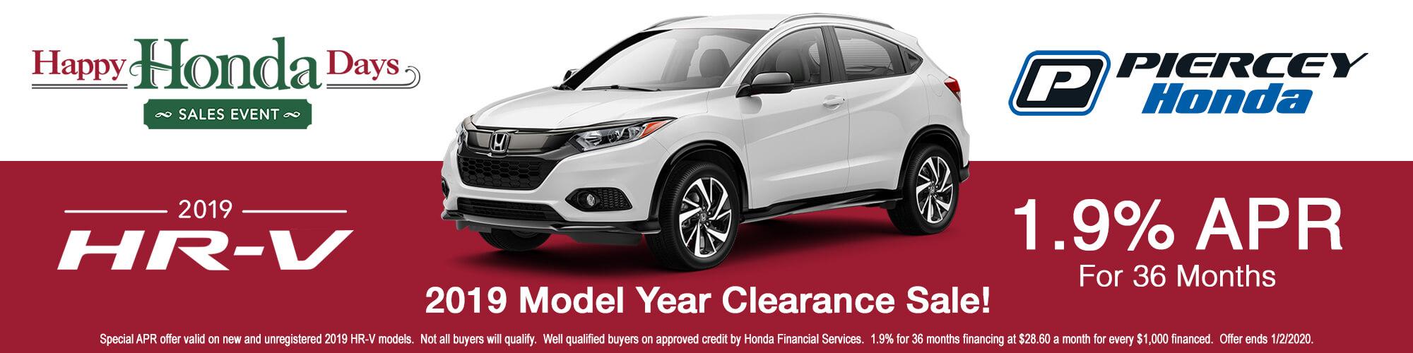 2019 Honda HR-V APR offer