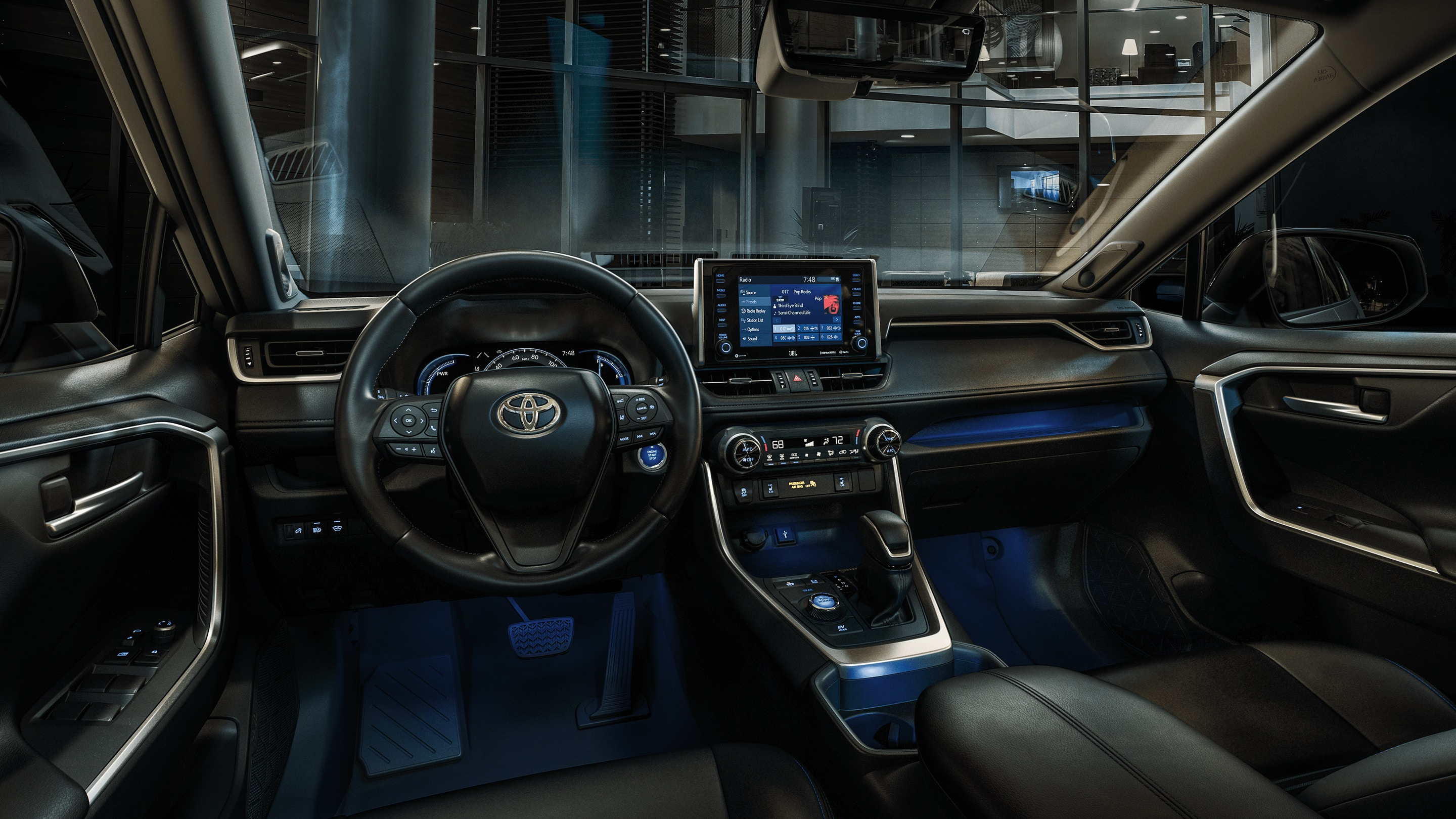 Interior of the 2020 Toyota RAV4
