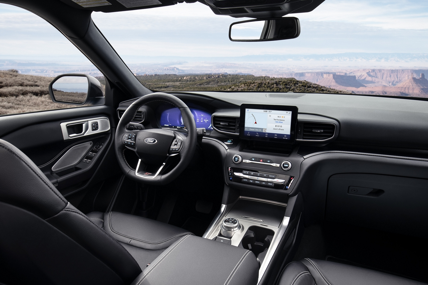 Interior of the 2020 Explorer
