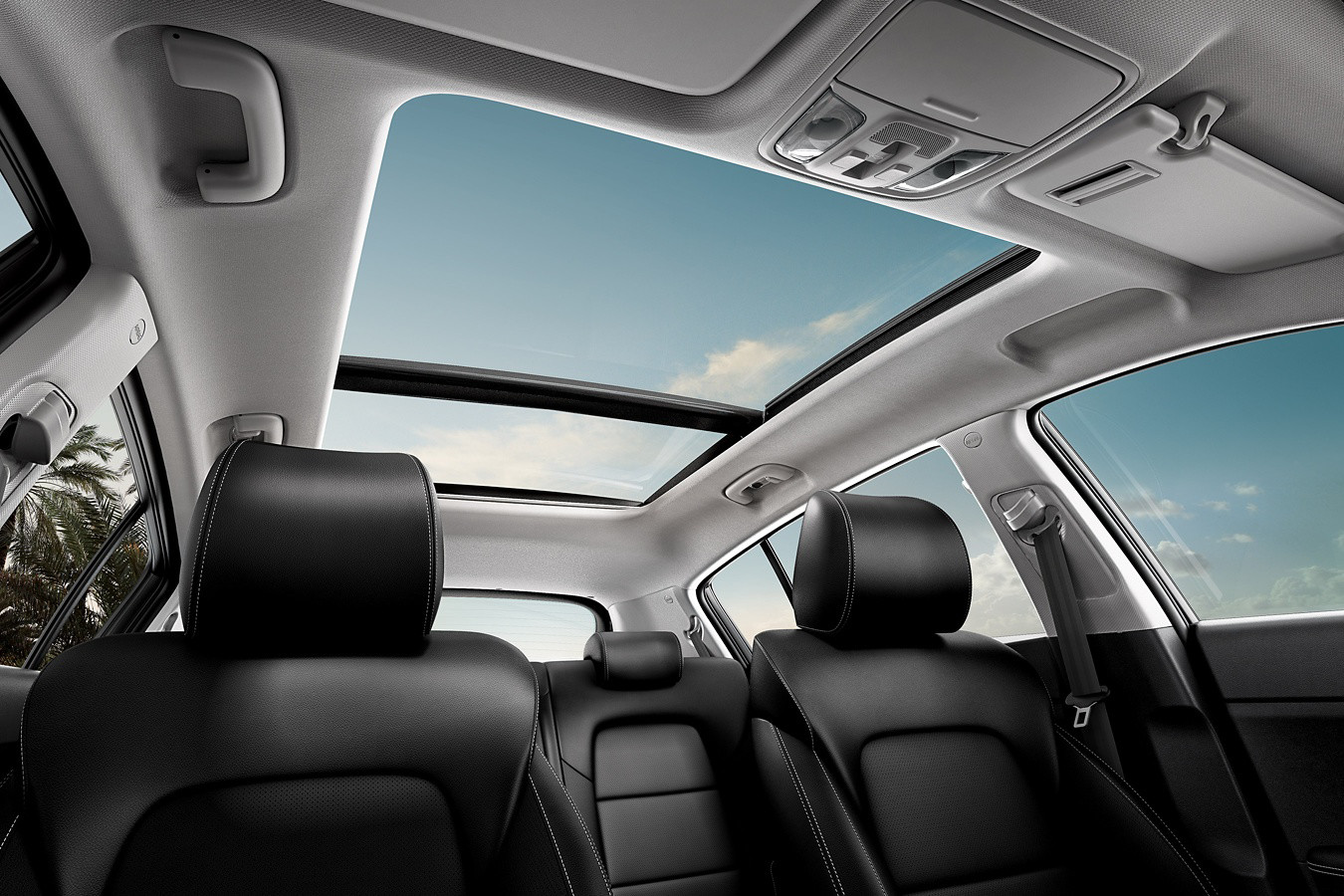 2020 Kia Sportage Interior Seating and Sunroof