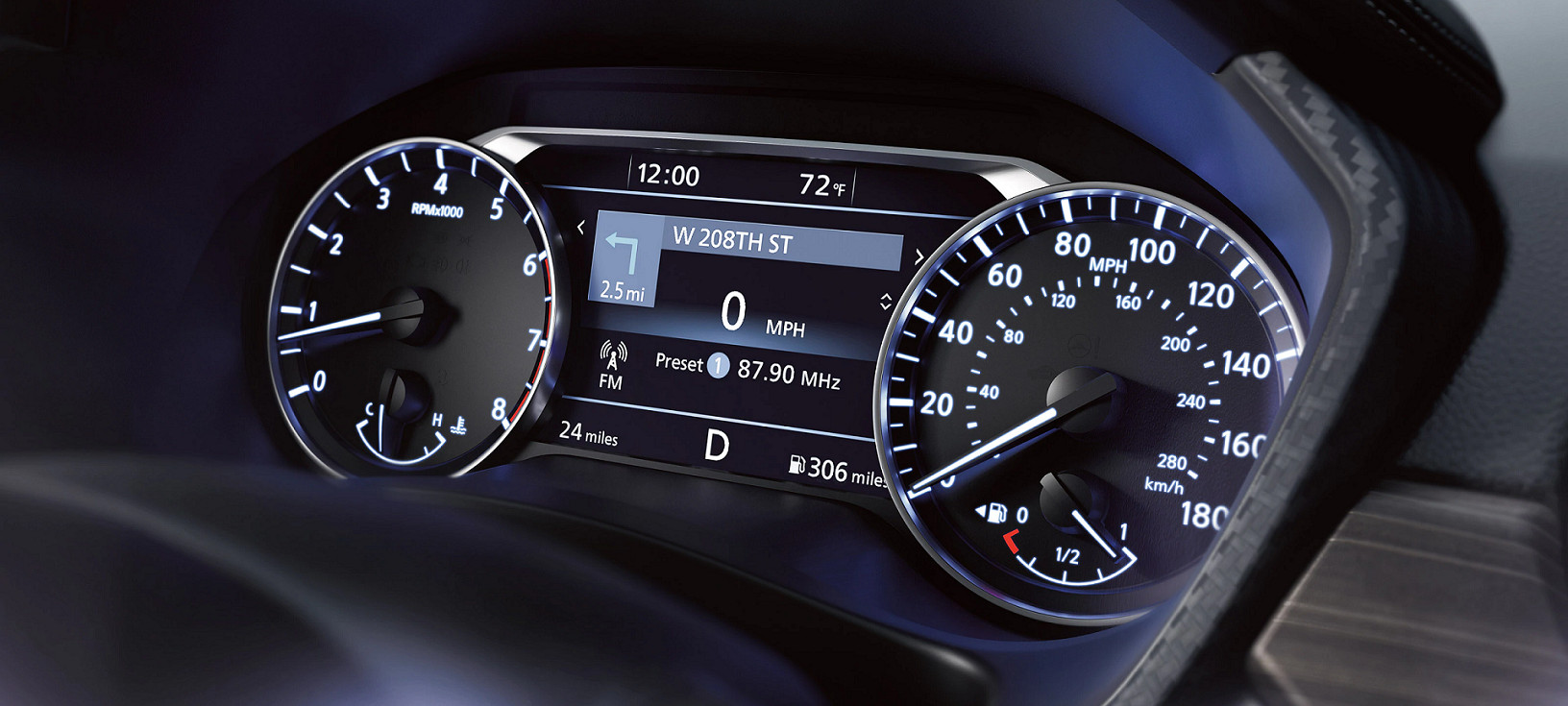 Instrument Panel in the 2020 Nissan Altima
