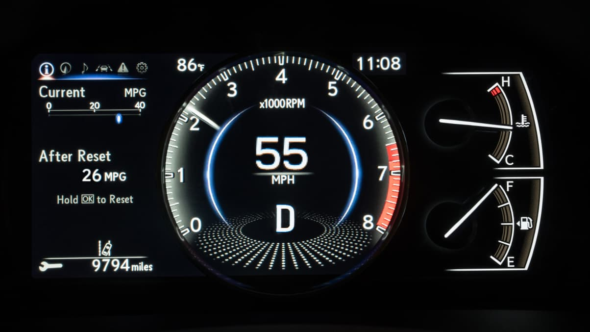 2020 Lexus ES 350 Instrument Cluster