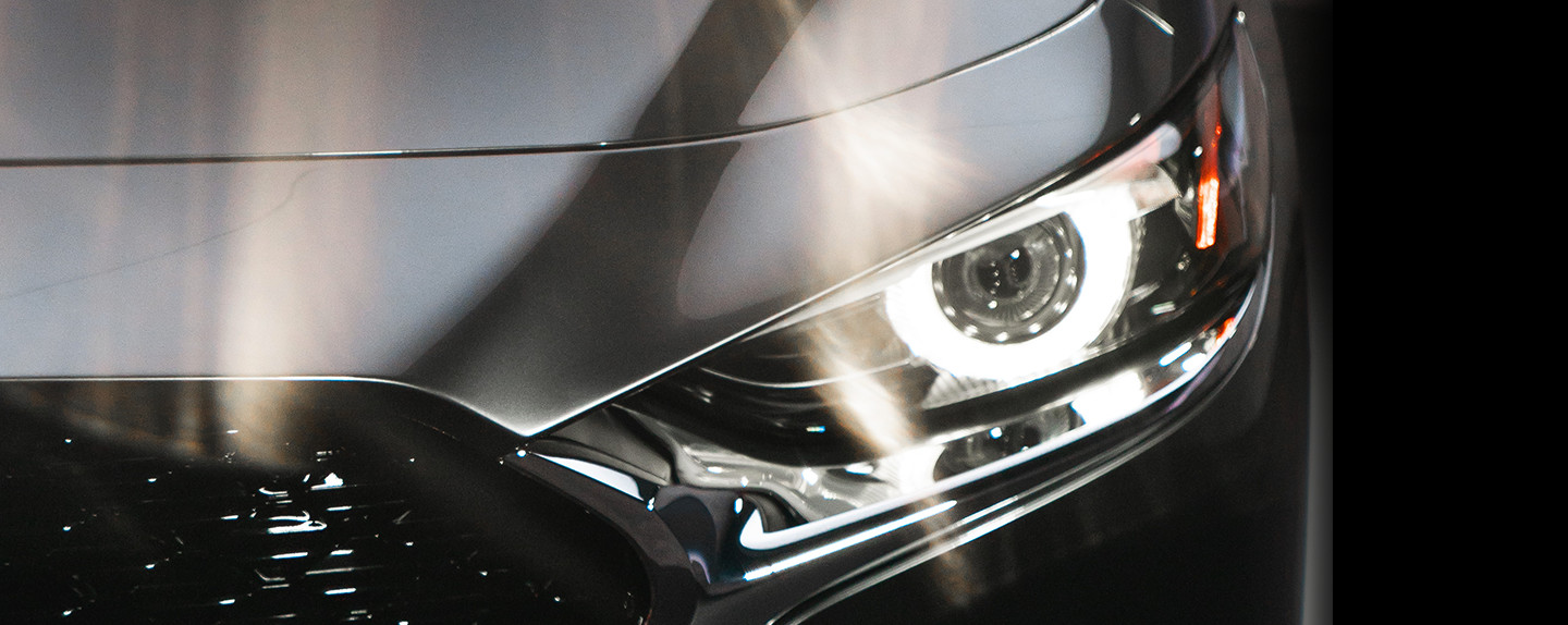 Headlights of the 2020 Mazda3 Sedan