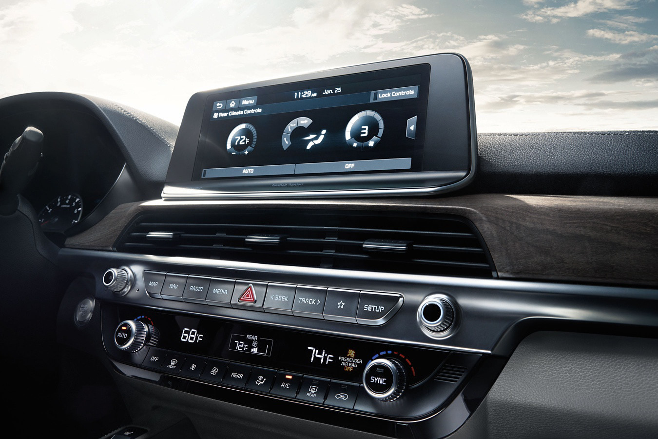 Touchscreen in the 2020 Telluride