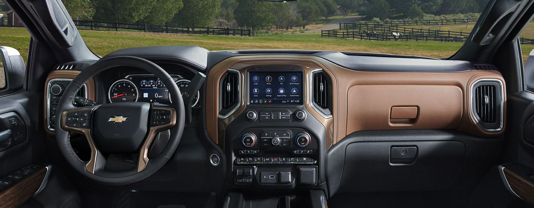 Interior of the 2020 Silverado 1500