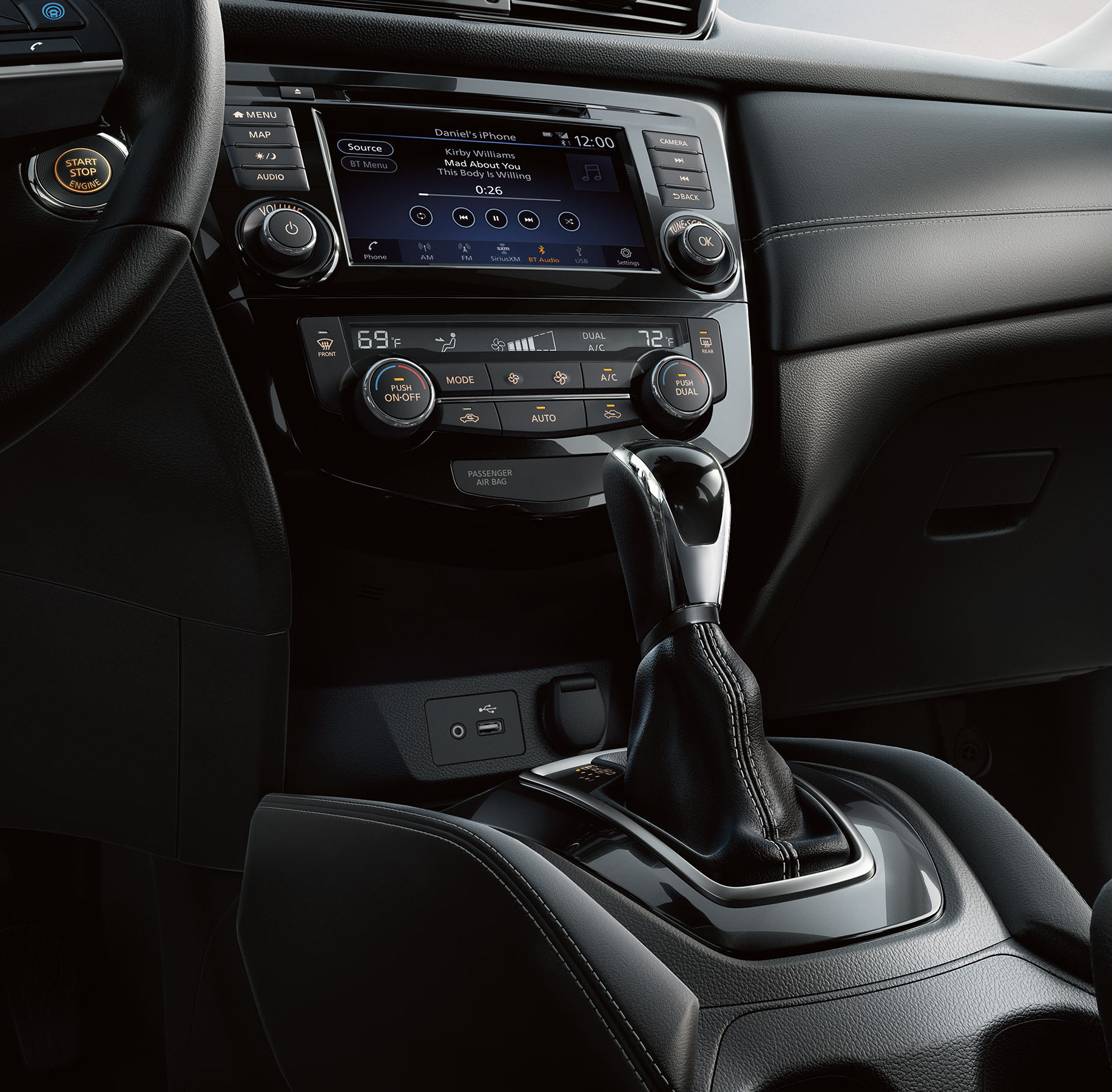 2020 Nissan Rogue Center Console