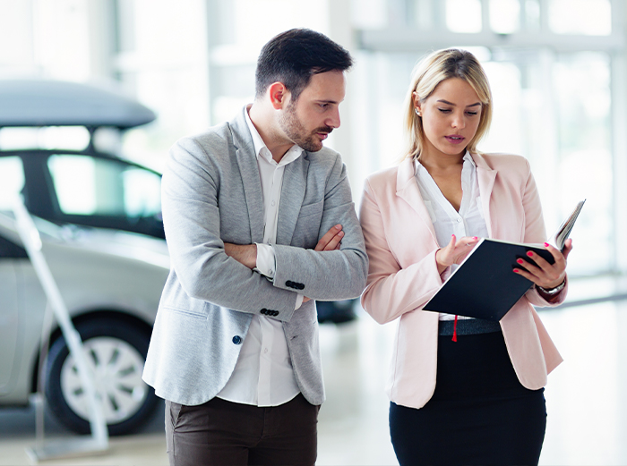 Documents to purchase a car at Tri County Toyota in Royersford | sales person