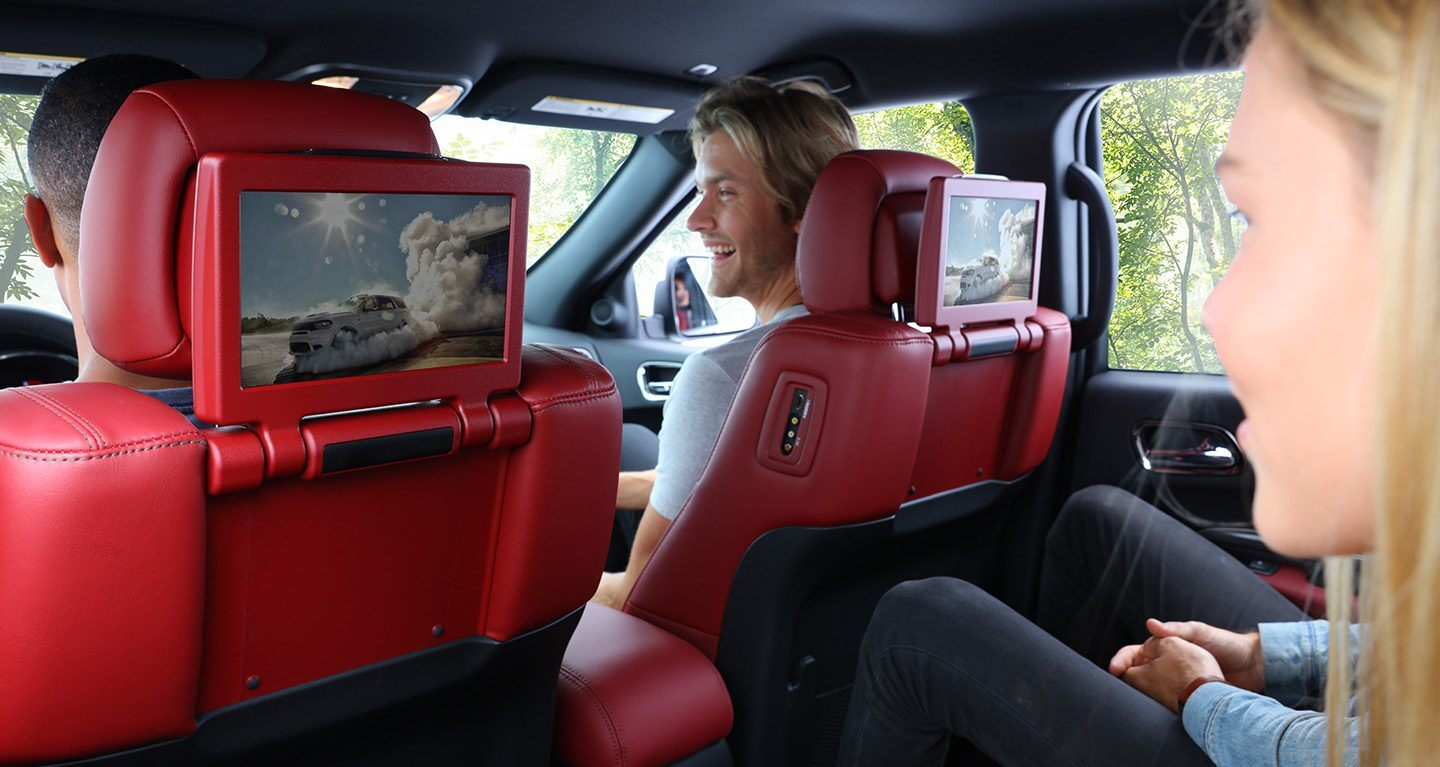 Rear Entertainment in the 2020 Durango