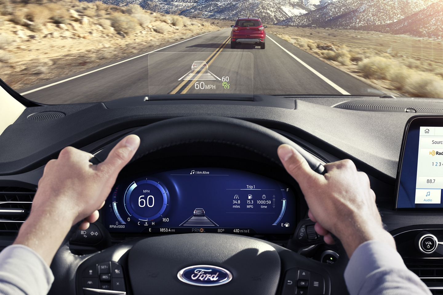 2020 Ford Escape Head-Up Display