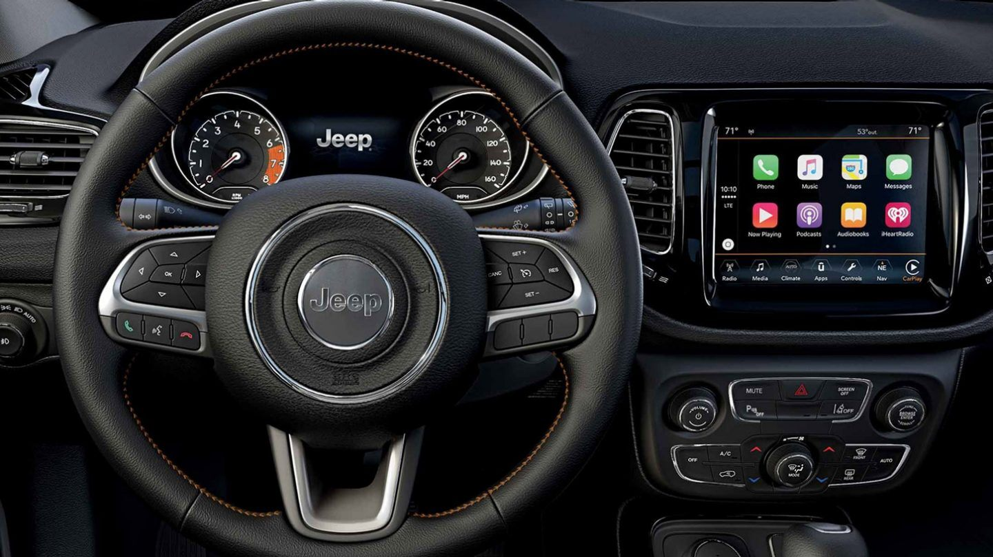 Interior of the 2020 Compass
