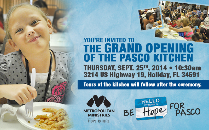 Your Invited To The Grand Opening Of the Pasco Kitchen