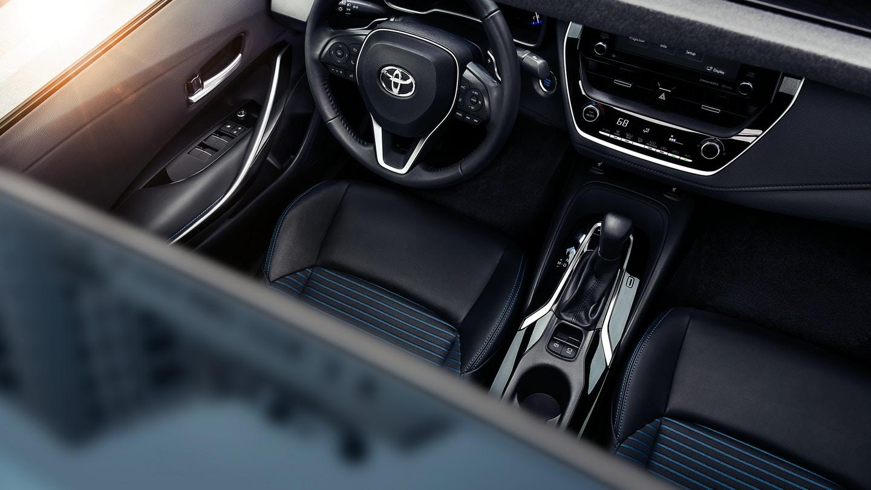 Interior of the 2020 Toyota Corolla