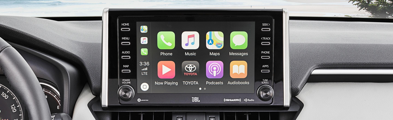 Touchscreen in the 2020 Toyota RAV4