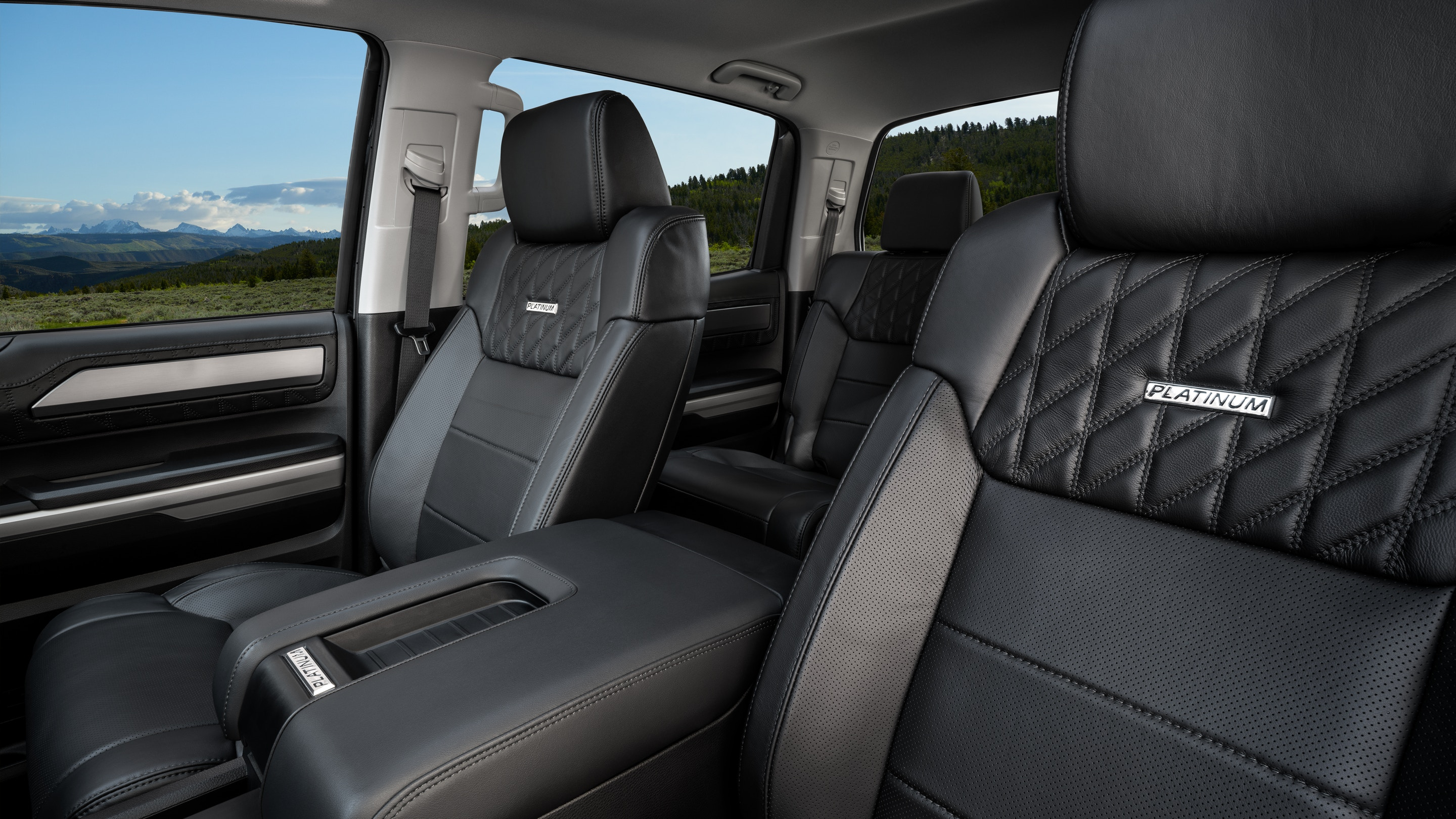 Front Row of the 2020 Tundra