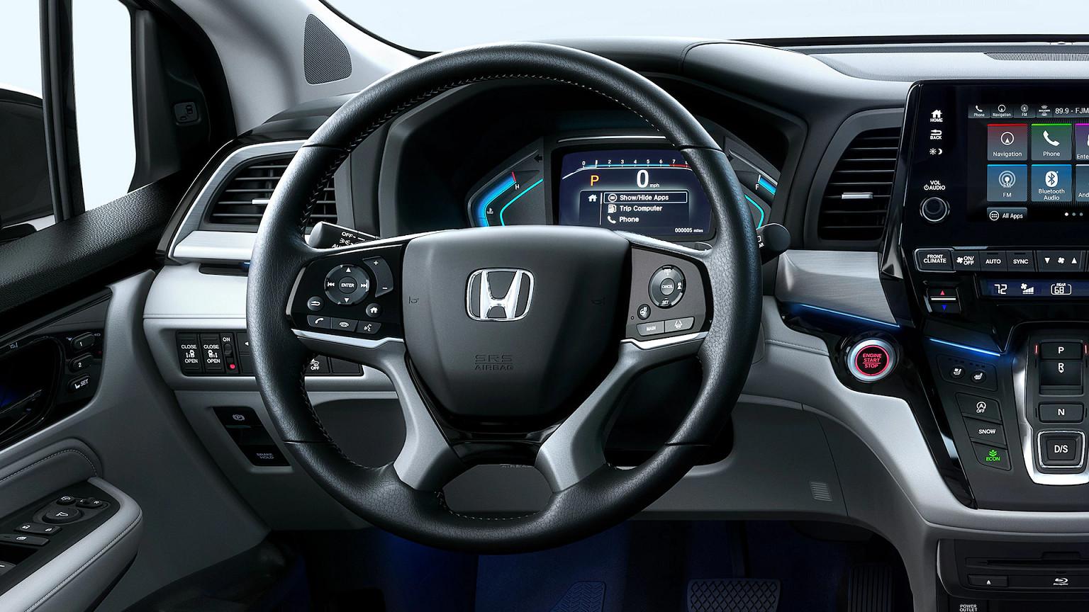 Steering Wheel of the 2020 Honda Odyssey