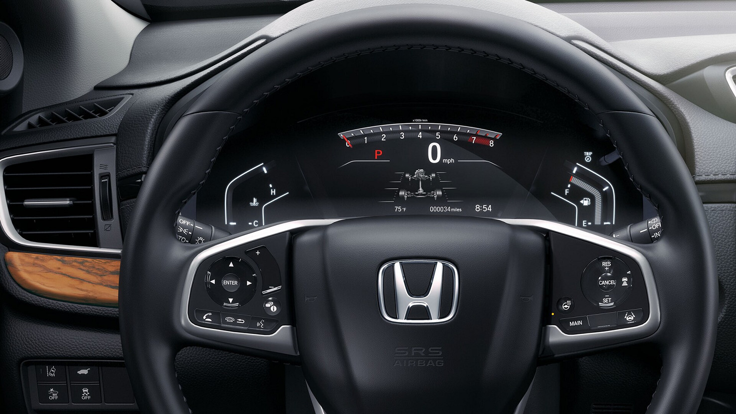 Steering Wheel of the 2020 Honda CR-V