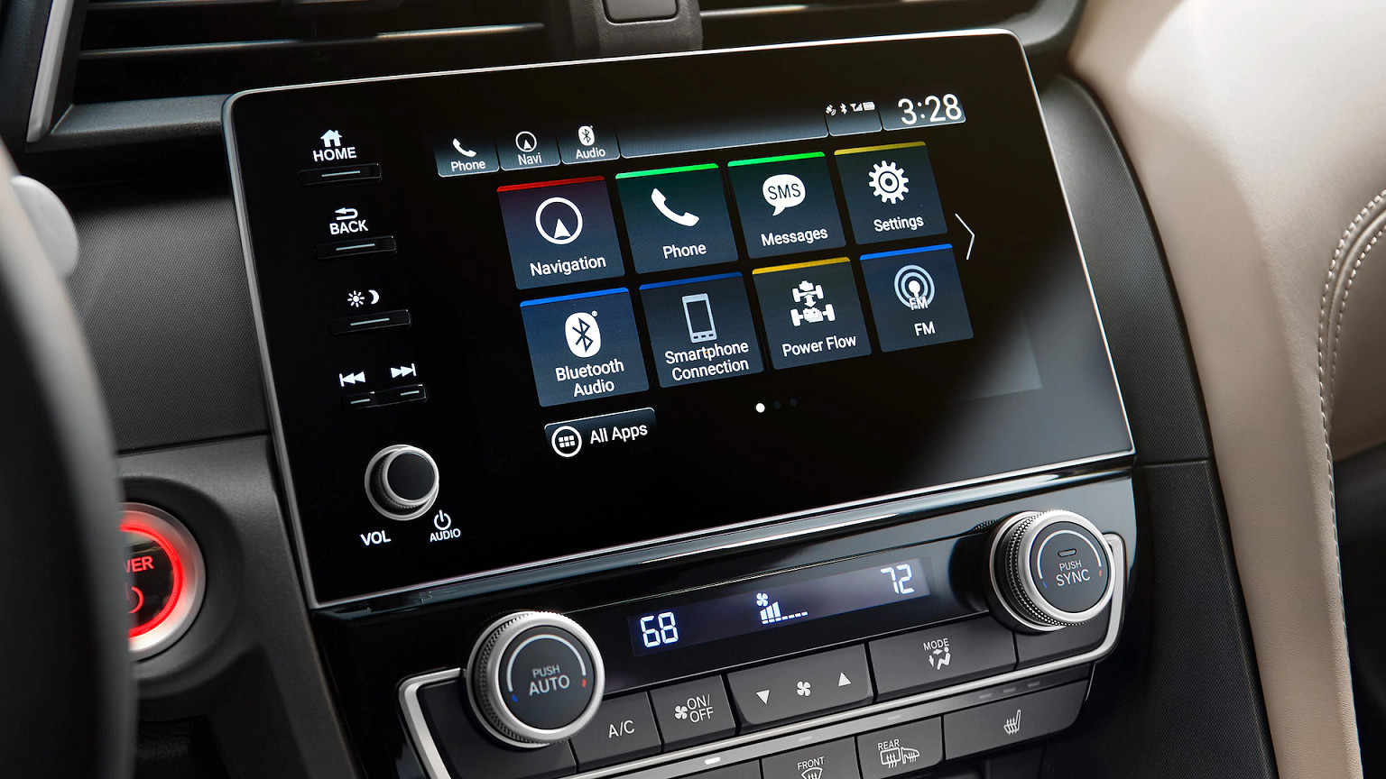 Touchscreen in the 2020 Honda Insight
