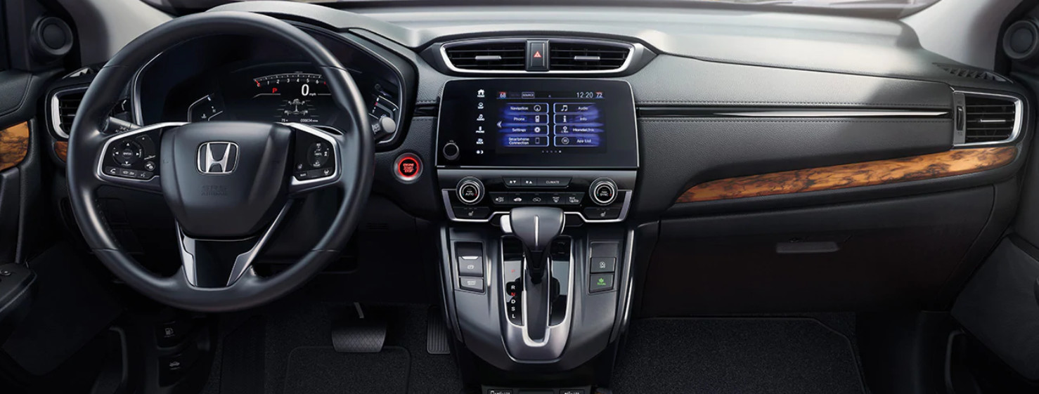 Interior of the 2020 CR-V Hybrid