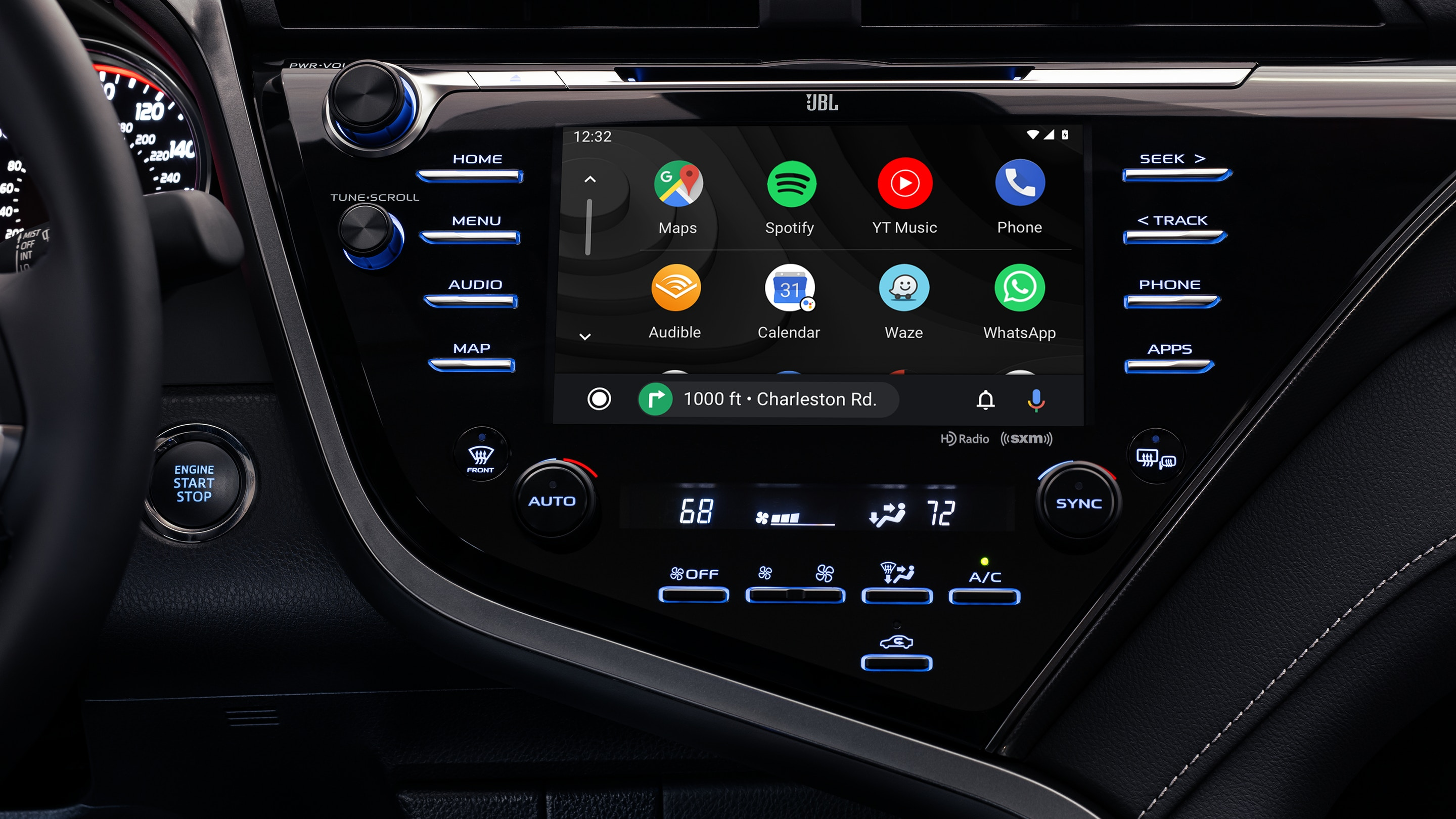 Touchscreen in the 2020 Camry