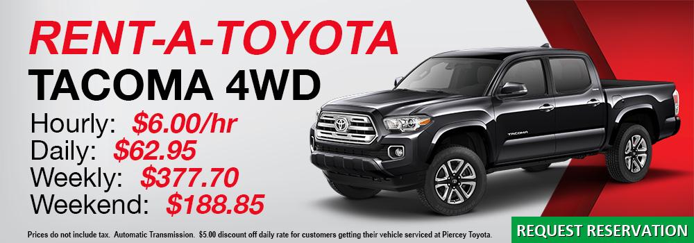 Rent a Toyota Tacoma