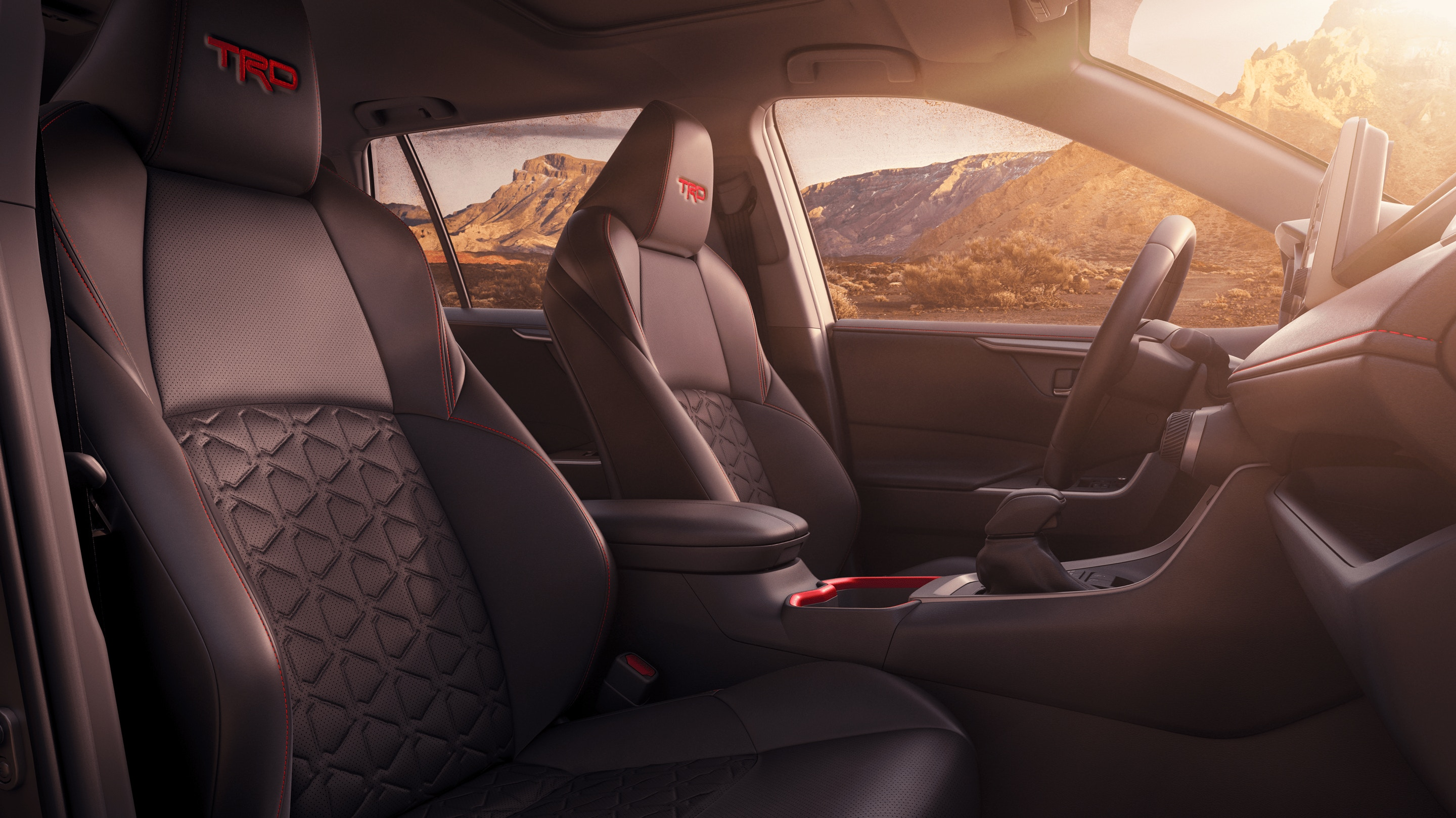 Front Row of the 2020 RAV4