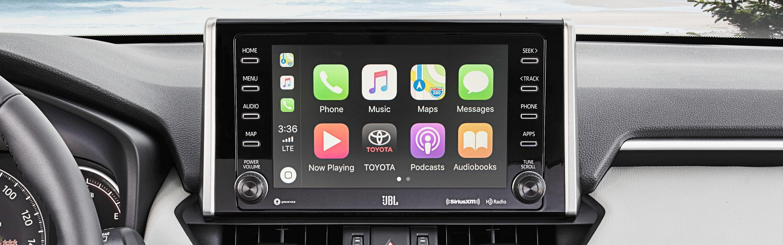 Touchscreen in the 2020 RAV4