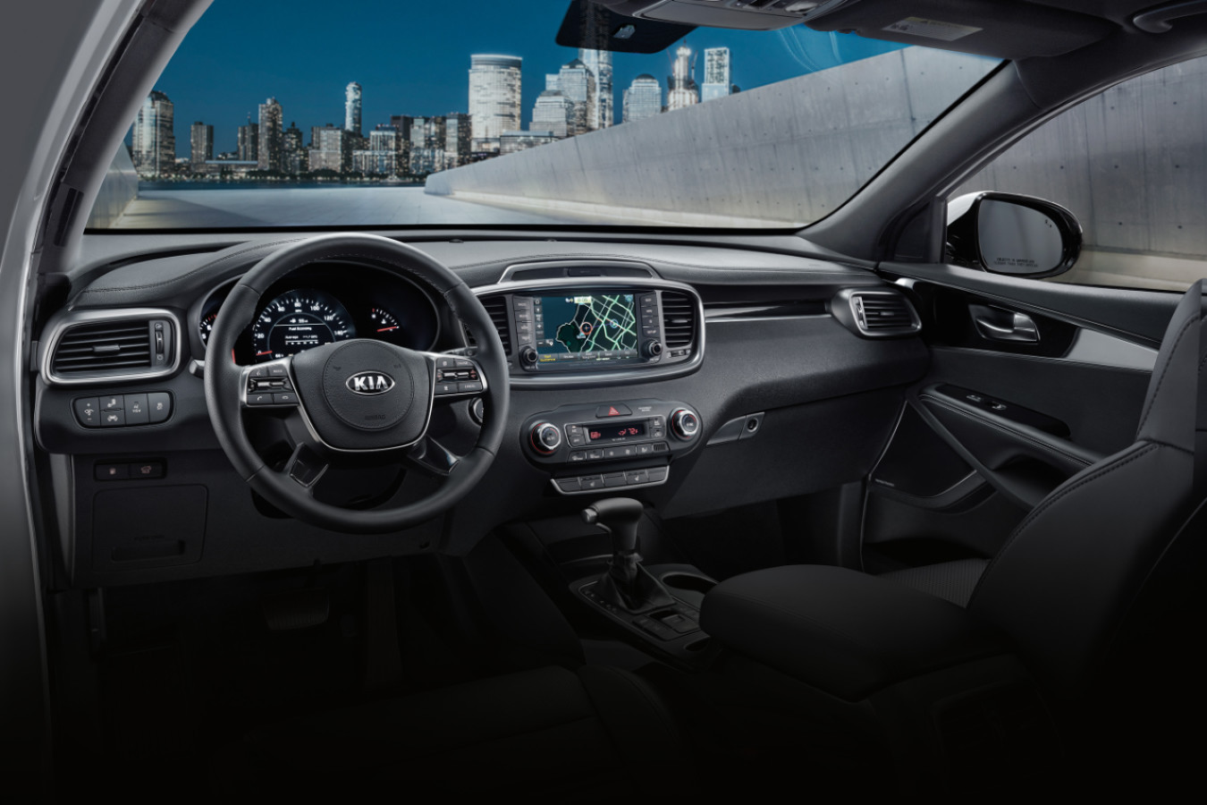 Front Console of the 2020 Sorento