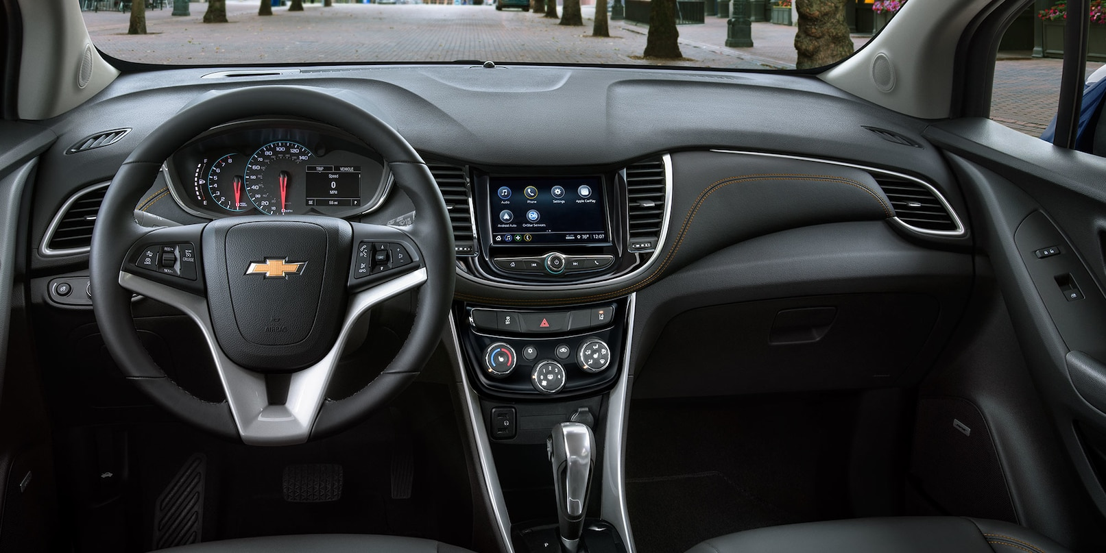 Interior of the 2020 Trax