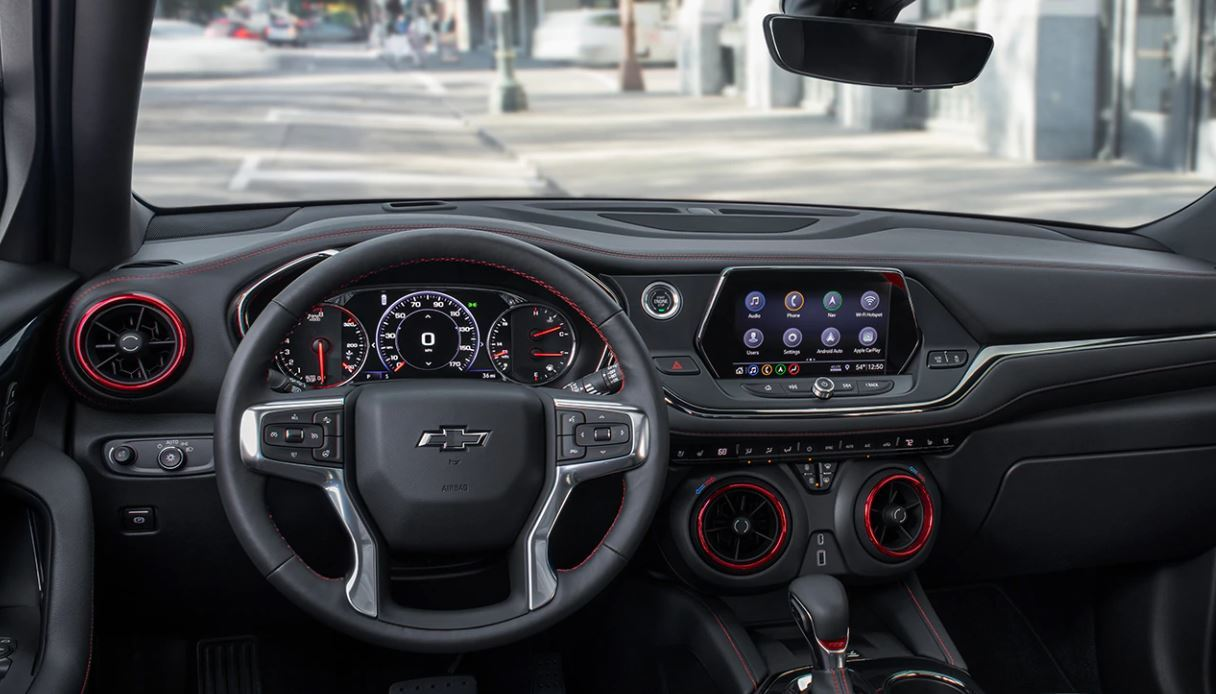 Interior of the 2020 Blazer