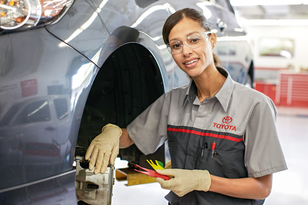 ToyotaCare in Erie at Superior Toyota | Toyota technicians smiling