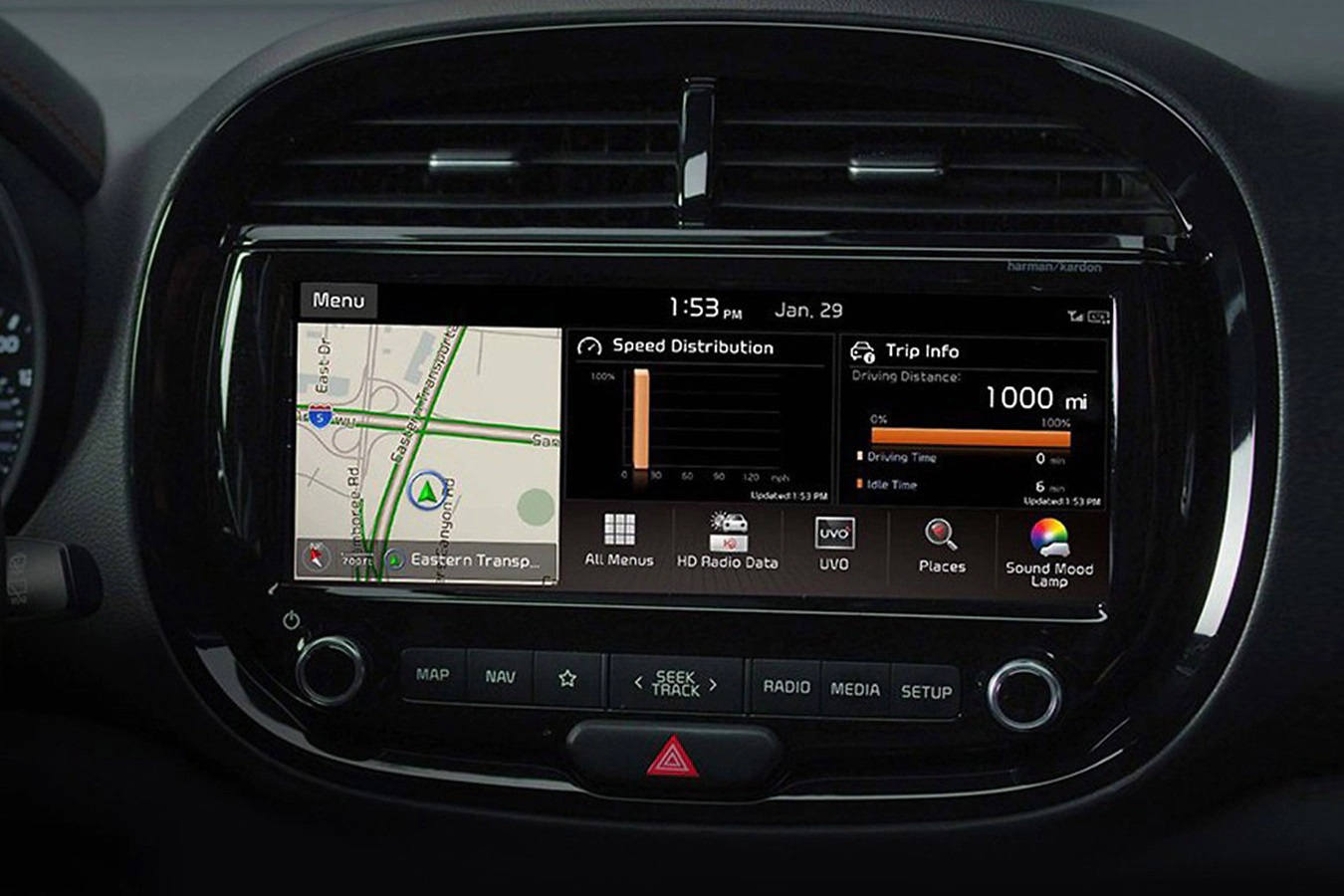 2020 Kia Soul Touchscreen Display