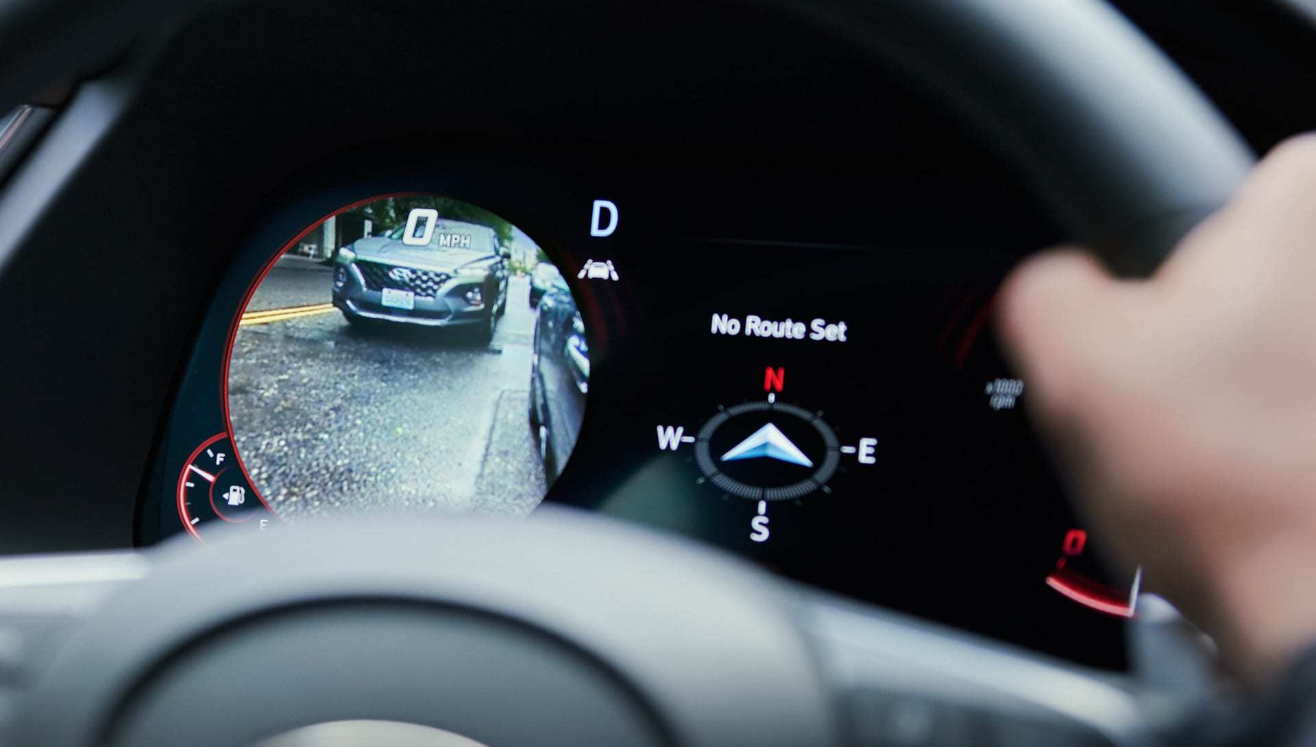 Blind-Spot View Monitor in the 2020 Hyundai Sonata