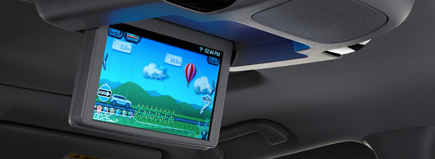 Optional Rear Entertainment System in the 2020 Pilot