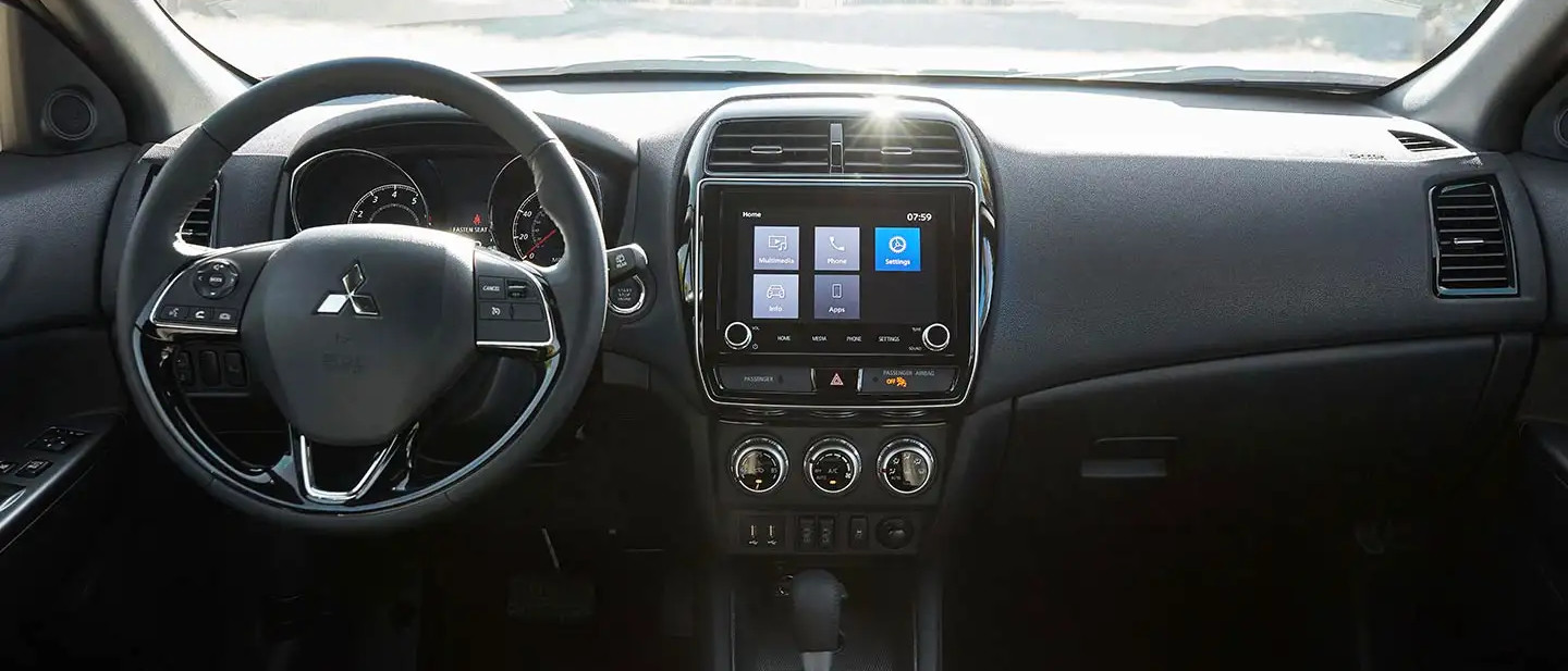 Front Dashboard of the 2020 Outlander Sport