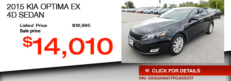 $14,010 Offer of a Used 2015 KIA OPTIMA EX 4D Sedan
