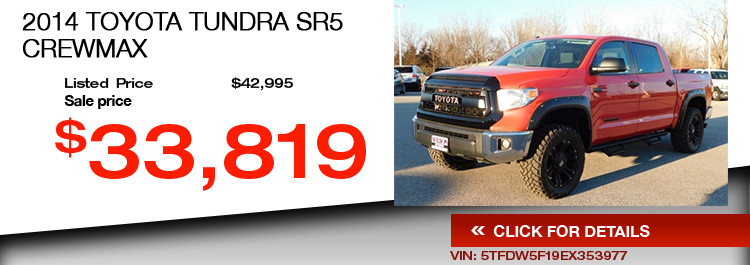 $33,819 Offer on a Used 2014 Toyota Tundra SR5 CrewMax