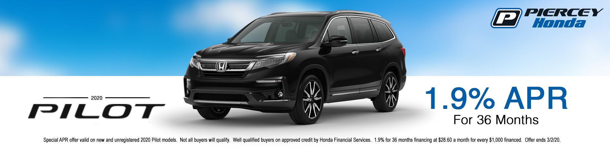 2020 Honda Pilot APR offer