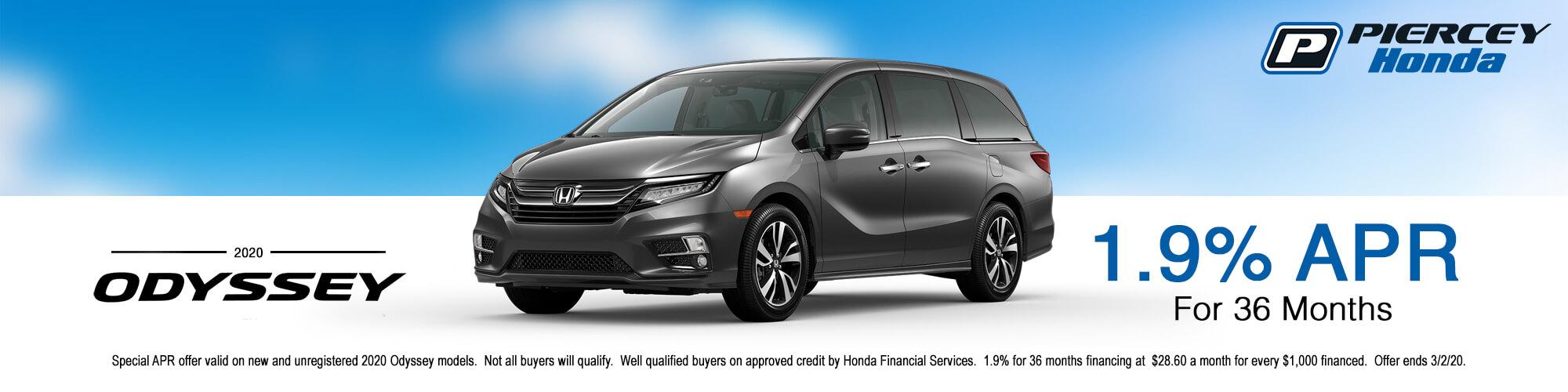 2020 Honda Odyssey APR offer