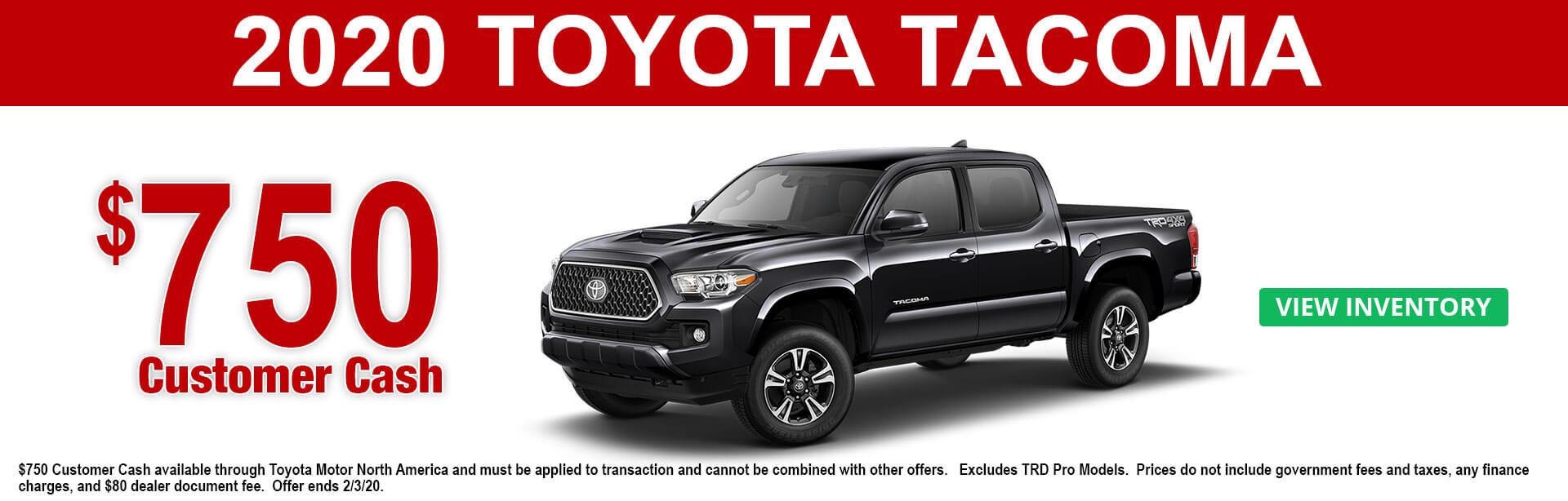 2020 Toyota Tacoma Cash Offer